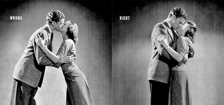 1940S Kissing Guide Shows How To Kiss Correctly  Memolition-5574