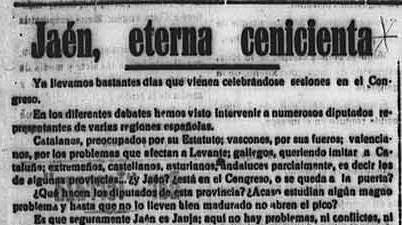 Artículo diario La Provincia, Úbeda, 18 de agosto de 1931 (recortado)