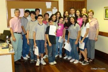 2009 - Entrega de Certificados da Olimpíada Brasileira de Astronomia (OBA) para alunos da unidade Centro