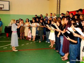 2006 - Apresentação do coral de ex-alunos no Dia do Ex-aluno da unidade Centro