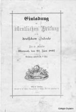 1897 - Prova de seleção para ingresso na Deutche Schule
