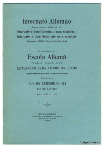 1905 - Inaururação do Internato Allemão