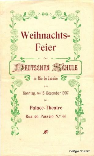 1907 - Convite para a comemoração da Festa de Natal