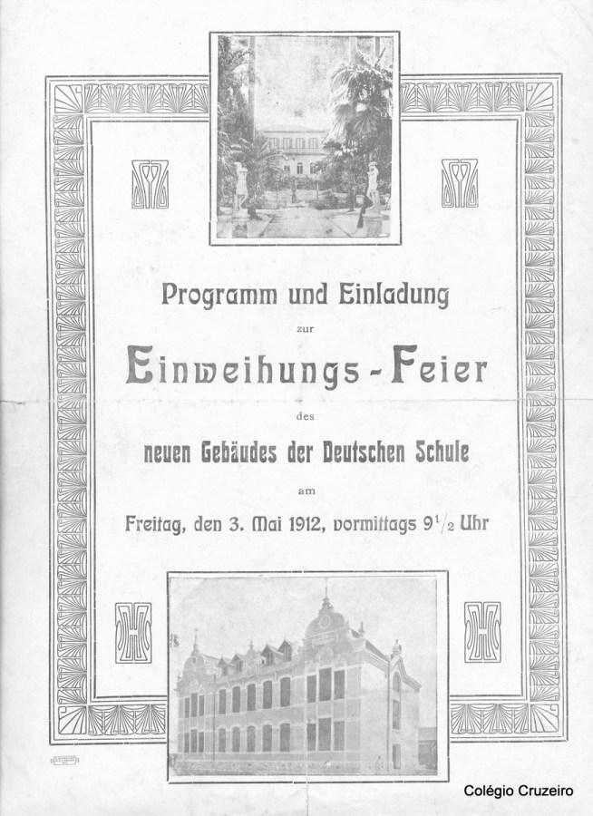 1912 - Convite de inauguração da sede na Rua Carlos de Carvalho