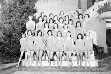 1931 - Alunas em aula de Educação Física