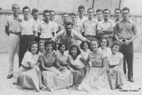1953 - Alunos do Colégio Cruzeiro - Centro