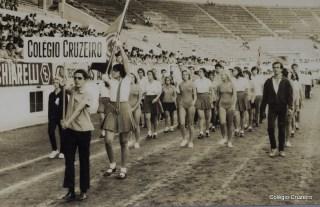 1971 - Desfile do Colégio Cruzeiro - Centro no Clube do Fluminense