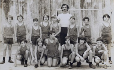 1972 - Aula de Educação Física no Colégio Cruzeiro - Centro, com Professor Rebello