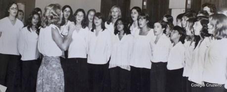 1978 - Coro do Colégio Cruzeiro na exposição de desenhos Lufthansa