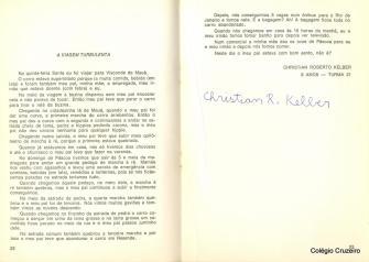 1980 - Texto do primeiro Concurso Literário do Colégio Cruzeiro - Centro