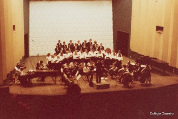 1984 - Apresentação do coral Martin Luther na comemoração dos 140 anos da Sociedade de Beneficência Humboldt, celebrada na Sala Cecília Meireles