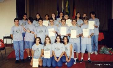 1998 - Entrega de Certificado de Alemão no Colégio Cruzeiro - Centro