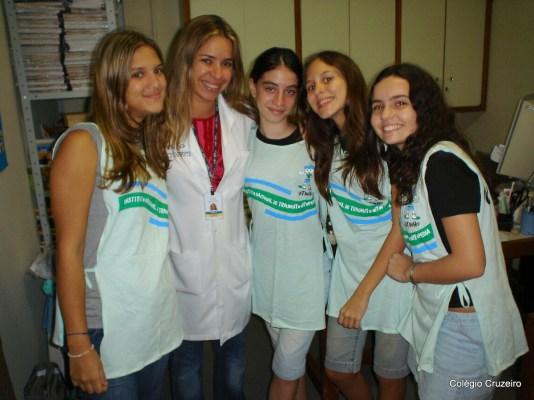 2007 - Alunos da Ação Social - Centro no INTO