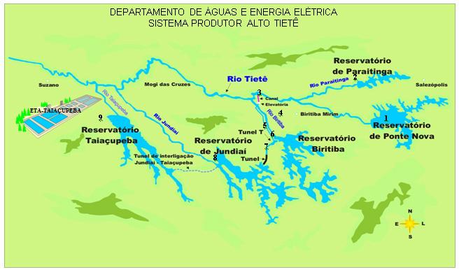Sistema Produtor Alto Tietê e as Barragens do DAEE