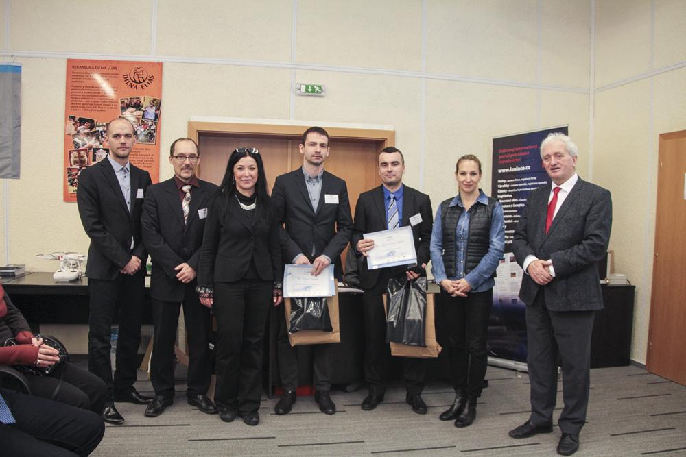 Kategorie Textová práce (zleva: Petříček, Plachý, Georgiadisová, Čurpek, Šida, Fajkošová, Oláh)