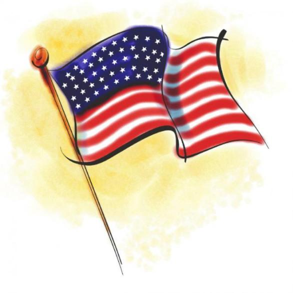 Memorial Day Clip Art Flag Image