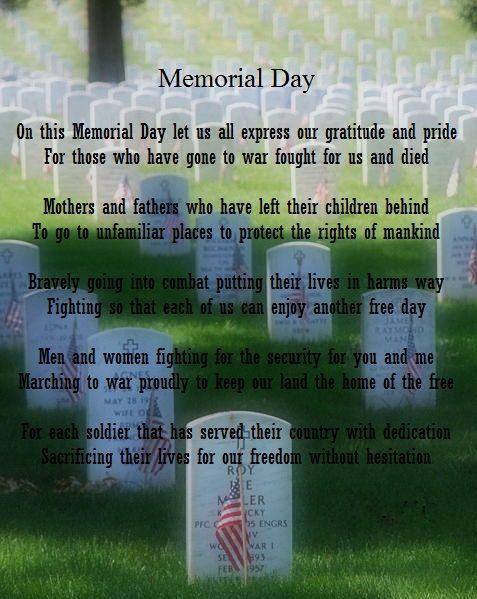 memorial day prayers poems