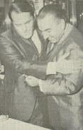 Delegados, Manoel Raphael Aranha Peixe, e Helio Pantaleão,, no antigo Derex.