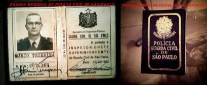 Carteira Funcional de Inspetor Chefe Superintendente da extinta Guarda Civil da Polícia do Estado de São Paulo. ( Acervo do GCM de São Paulo Leandro Grabe).