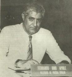 """Delegado de Polícia Divisionário da DISCCPAT do DEIC, Fernando Dino Aprille """"in memorian"""", em 1.988. Foi também Diretor do DEIC."""