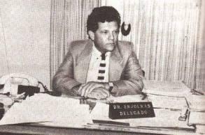 Delegado de Polícia Titular do 35° DP, Enjolras Rello Prado, em 1.987.