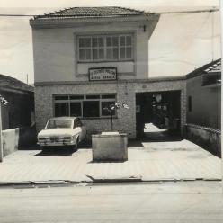 Antigo prédio do 5º Distrito Policial de Santos, na década de 70.