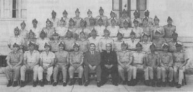A Divisão de Polícia Marítima e Aérea comandada pelo Delegado de Polícia Dr. Nilo de Miranda Guimarães, em 1.956.