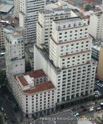 Vista de cima do Palácio da Polícia, na rua Brigadeiro Tobias, 527- Bairro da Luz- SP.