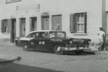 Viatura Ford Fairlane da Rádio Patrulha, década de 60.