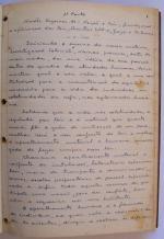 página 1 do manuscrito do Livro Investigação Policial do Delegado de Polícia Coriolano Nogueira Cobra, (enviada pelo Dr. Miguel Voigt Jr.)