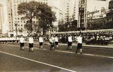 Polícia Feminina (desfile no Anhangabaú, anos 50).