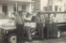 Viatura Rural Willis com integrantes da extinta Guarda Civil da Políca do Estado de São Paulo, na década de 60.