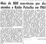 Reportagem sobre a produção da Rádio Patrulha, Comandada por Delegados de Polícia, no ano de 1.961.