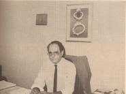 Delegado Marco Antônio Desgualdo, no DHPP, na década de 70.