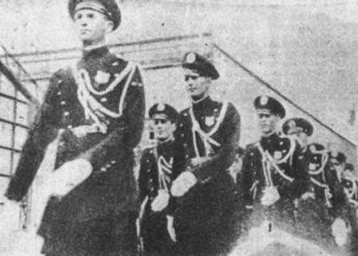 Extinta Guarda Civil em Santos, em 1.926.