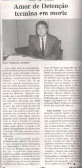 Delegado de Polícia Titular do 97º DP (Americanópolis), Mário Watanabe, com sua equipe, os Investigadores Osvaldo Jose Dos Santos e Walter Ferro esclareceram delito de homicídio, em 1.991.