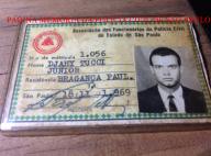 Carteira de sócio da AFPCESP- Associação dos Funcionários da Polícia Civil do Estado de São Paulo do Delegado de Polícia Djahy Tucci Junior, expedida em 18 de novembro de 1.969, assinada pelo presidente Arthur Parada Neto.