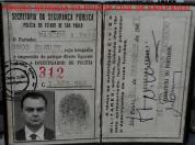 Funcional (Carteira Preta) do Investigador Marcos Antônio Paranhos Fleury, expedida em 19/12/1977. Acervo da filha Vera Fleury. https://www.facebook.com/MemoriaDaPoliciaCivilDoEstadoDeSaoPaulo/photos/a.282966865159225.65442.282332015222710/1110728755716361/?type=3&theater