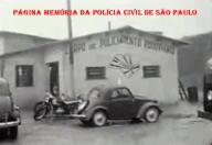 Posto do extinto Corpo de Policiamento Rodoviário de São Paulo, em 1.965.