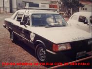Viatura GM- Opala do GARRA, década de 80. (Acervo do Investigador Ricardo Gomeiro).