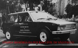 Viatura marca VW- Brasília do antigo Departamento de Polícia Científica- Instituto de Criminalística, final da na década de 70.