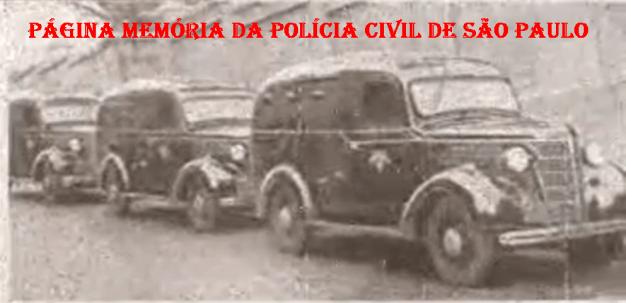 Viaturas da Rádio Patrulha da Polícia do Estado de São Paulo, na década de 40.
