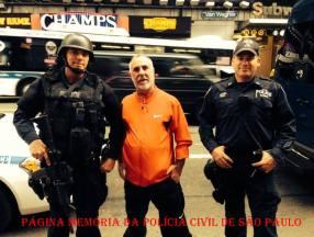 O Vereador da cidade de Jundiaí, Delegado de Polícia Paulo Sérgio Martins, em visita NYPD - USA.