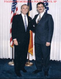 Delegado de Polícia Mauro Marcelo de Lima e Silva, com William Bratton, Chefe do NYPD- USA, em 1996.