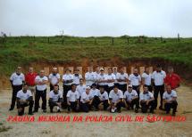 Turma do Curso de Formação Técnico Profissional para Agente Policial, ano 2014 do Deinter 1. (Acervo do Agente Policial Leandro Oliveira).