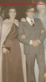 Delegado Haroldo Ferreira ( Diretor da ACADEPOL, na década de 80) e esposa, em 1.970. ( Acervo do primo Waldevir Bernardo dos Santos).