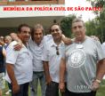 """Investigadores Papatolo (ao fundo), Osvaldinho, Gigi, Saad """"Turquinho"""" e Delegado Paulo Roberto de Queiroz Motta."""
