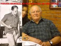 """Agente Policial da RONE, em 1971, Sebastiao Moreira de Azevedo """"Ceará"""" e atualmente aos 90 anos de idade."""