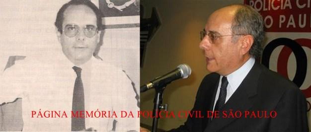 Delegado Marco Antônio Desgualdo (Ex- DGP), no início da década de 80 e atualmente.