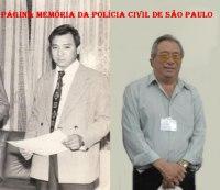 Investigador de Polícia Oscar Matsuo na Delegacia de Roubos em meados da década de 70 e atualmente.